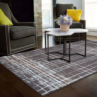 Superior Designer Painted Stripes Area Rug Collection (5' X 8') - 5' x 8'