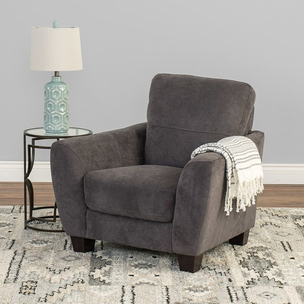 Shop CorLiving Jazz Chenille Fabric Armchair - Free ...