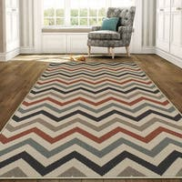 Superior Designer Chevron Indoor/Outdoor Area Rug collection - 8' x10'
