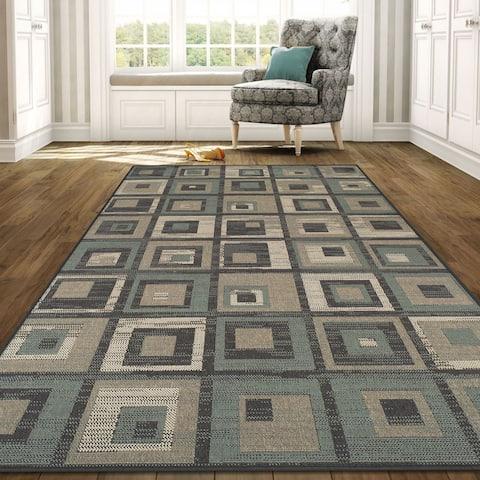 Superior Designer Colburn Indoor/Outdoor Area Rug collection (5' x 8') - 5' x 8'