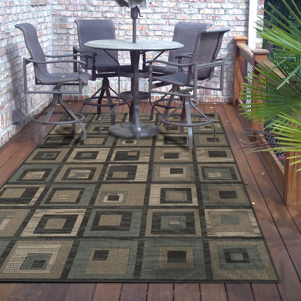 Superior Designer Colburn Indoor/Outdoor Area Rug collection (8' x 10') - 8' x 10'