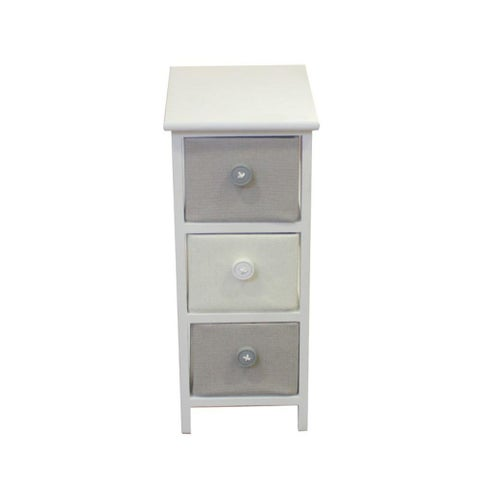 Small Wooden Cabinet With 3 Drawers - Benzara