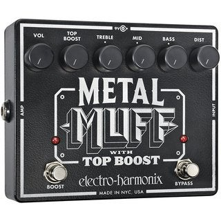Electro Harmonix Metal Muff Distortion with Top Boost Guitar Effects Pedal