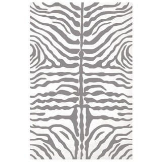The Rug Market Zebra Grey Acrylic Area Rug (8' x 10')