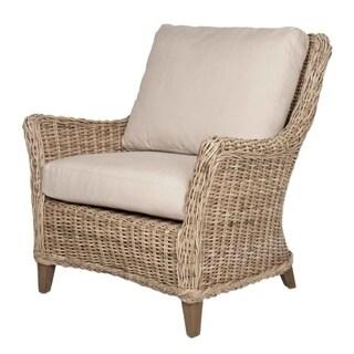 Rayette Natural Linen Wicker Club Chair