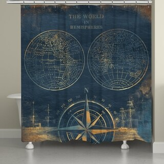Laural Home Golden Hemispheres Shower Curtain