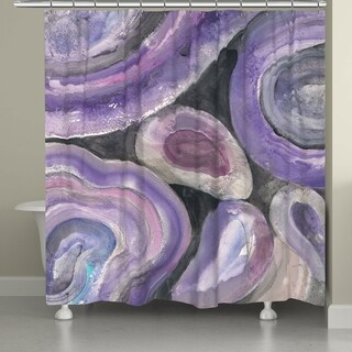 Laural Home Purple Minerals Shower Curtain