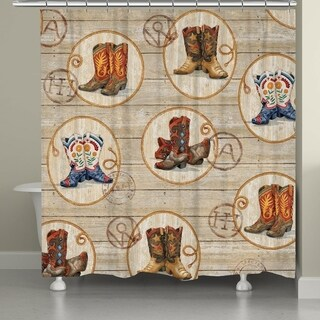 Laural Home Cowboy Boots Shower Curtain