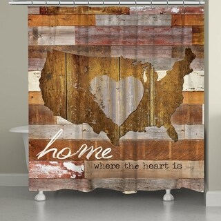 Laural Home Home Is Where the Heart Is Shower Curtain