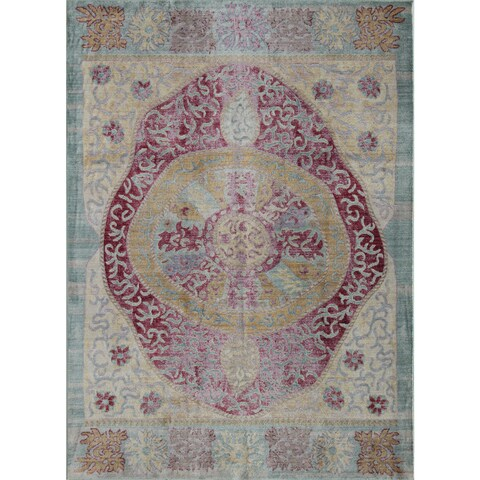 Woven Accents Westford Collection Ruby Red Rug - 5' x 8'