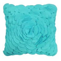 Laser Peony Solid Fabric 3D Contemporary Indoor/Outdoor Decorative Pillow