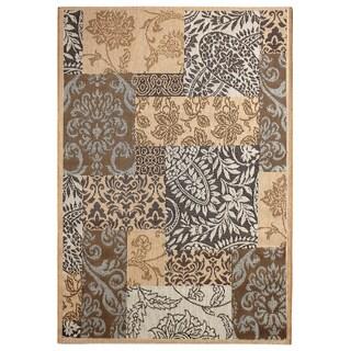 Alfresco Brown Print Indoor/Outdoor Rug (5'3 x 7'6)
