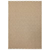 Alfresco Chevron Beige Indoor/Outdoor Rug - 5'3 x 7'6
