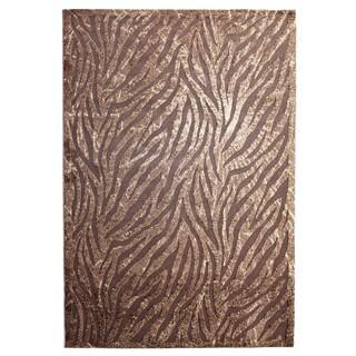 Inspiration Brown Animal-print Area Rug (7'10 x 10'4)