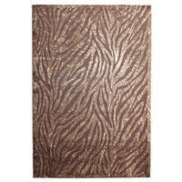 Inspiration Brown Animal-print Area Rug (7'10 x 10'4)