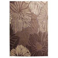 Inspiration Floral Mable Brown Area Rug (7'10 x 10'4)