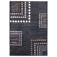 Inspiration Geometric Black/Grey Area Rug - 5'3 x 7'5