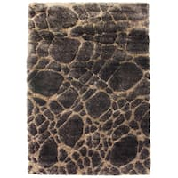 Inspiration Solid Chocolate Area Rug (5'3 x 7'5)