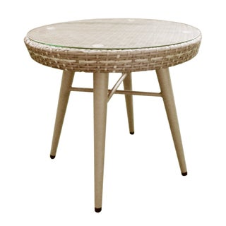 INK+IVY Avery Light Grey Outdoor End Table