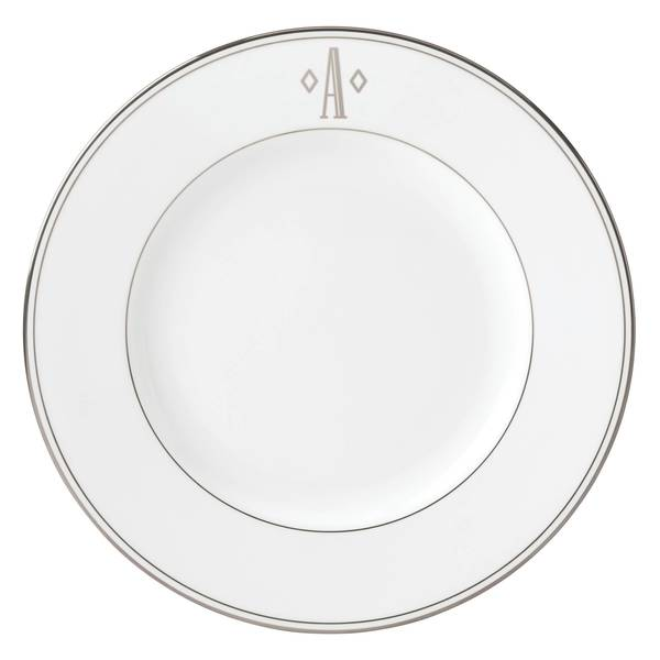 Lenox Federal Platinum Block Monogram Dinner Plate