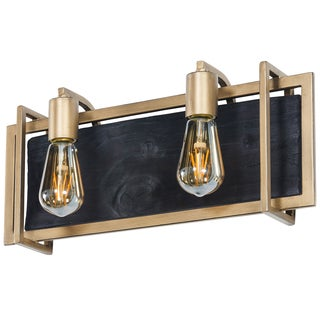 Varaluz Madeira 2-light Rustic Gold Bath/Vanity