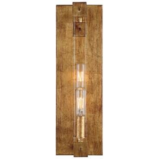 Varaluz Halcyon 2-light Antiqued Gold Leaf Wall Sconce