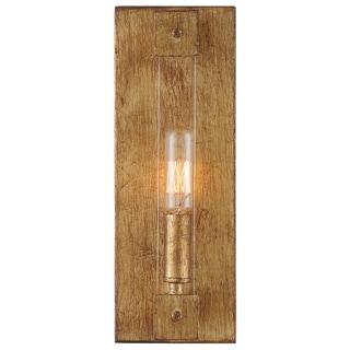 Varaluz Halcyon 1-light Antiqued Gold Leaf Wall Sconce