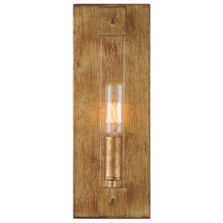 Varaluz Halcyon 1-light Antiqued Gold Leaf Wall Sconce