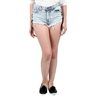 Xehar Women's Cut Off High Waist Distressed Denim Shorts|https://ak1.ostkcdn.com/images/products/16848918/P23147840.jpg?impolicy=medium