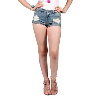 Xehar Women's Destroyed Distressed Jean Denim Shorts