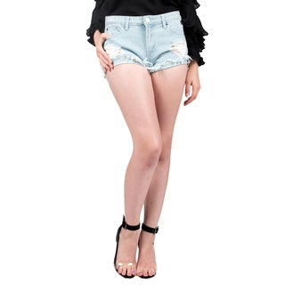 Xehar Women's Destroyed Distressed Jean Denim Shorts