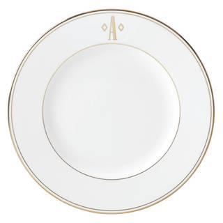 Lenox Federal Gold Block Monogram Dinner Plate