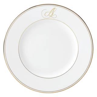 Lenox Federal Gold Script Monogram Dinner Plate