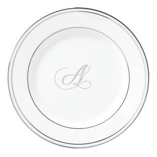 Lenox Federal Platinum Script Monogram Tidbit Plate