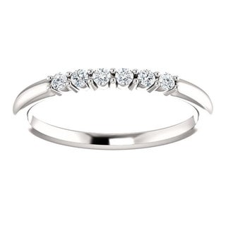 Auriya Women's 10K Gold 1/8ct TDW Prong Round Diamond Wedding Band