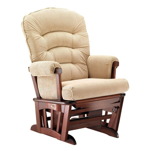 Shop Shermag Cabaret Camel Wood Extra Wide Glider Chair Ships To