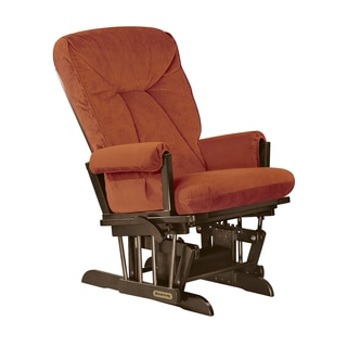 Shermag Espresso/Bella Spice Brown Fabric/Hardwood Extra Wide Glider Recliner