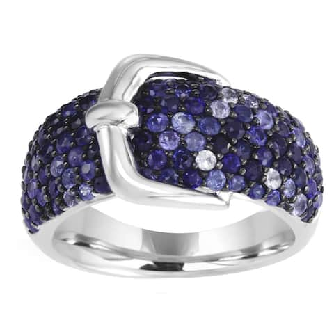EFFY Final Call 925 Sterling Silver Sapphire Ring (Size 7)