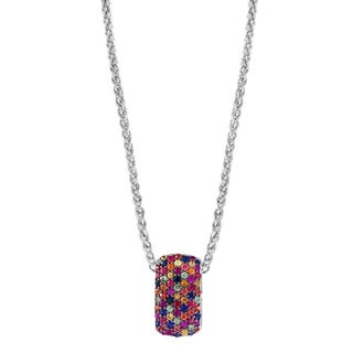 EFFY Final Call 925 Sterling Silver Multi Color Sapphire Pendant