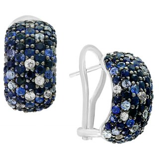 EFFY 925 Sterling Silver Sapphire Earrings