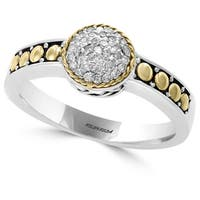 Effy Sterling Silver 18k Yellow Gold 1/6ct TDW Diamond Ring
