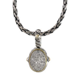 Effy Sterling Silver 18k Yellow Gold Diamond Pendant|https://ak1.ostkcdn.com/images/products/16849030/P23148025.jpg?impolicy=medium