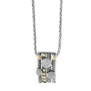 Effy 925 Sterling Silver 18k Yellow Gold Diamond Pendant