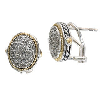 EFFY 18k Yellow Gold and Sterling Silver 1/3ct TDW Diamond Earrings