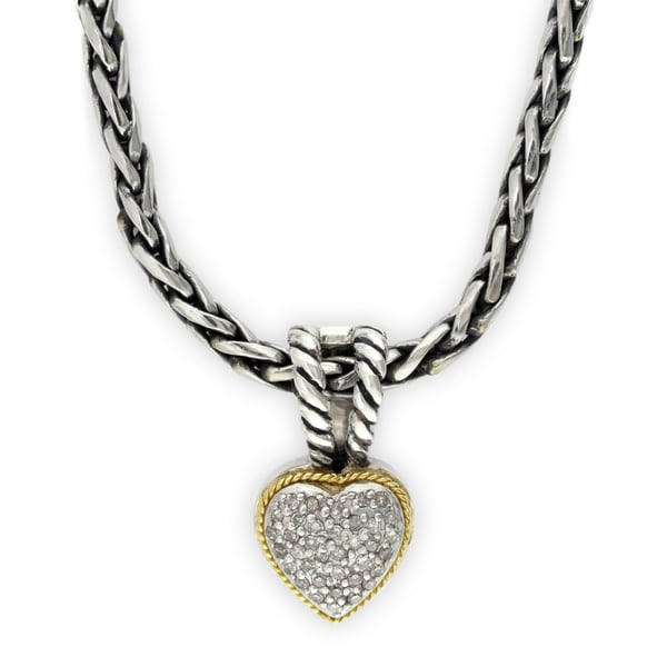 Shop effy final call 18k yellow gold and sterling silver 110ct tdw effy final call 18k yellow gold and sterling silver 110ct tdw diamond heart pendant aloadofball Images