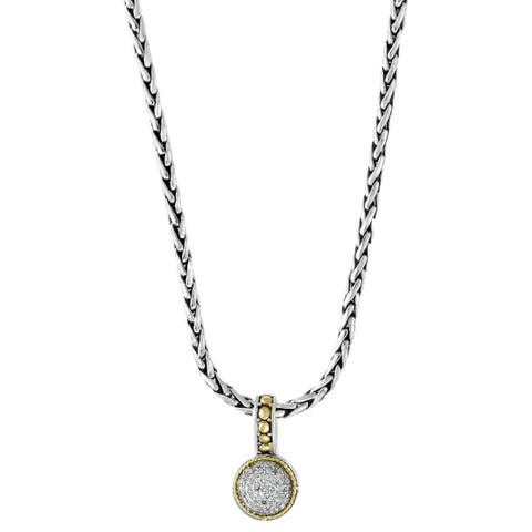 Effy 18k Yellow Gold and 925 Sterling Silver 1/4ct TDW Diamond Pendant