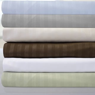 Sweet Home Collection Dobby Stripe 6-piece Bed Sheet Set
