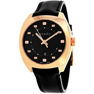 Gucci YA142309 GG2570 Men's Black Dial Watch