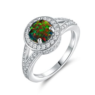 Gold Plated Black Opal Ring