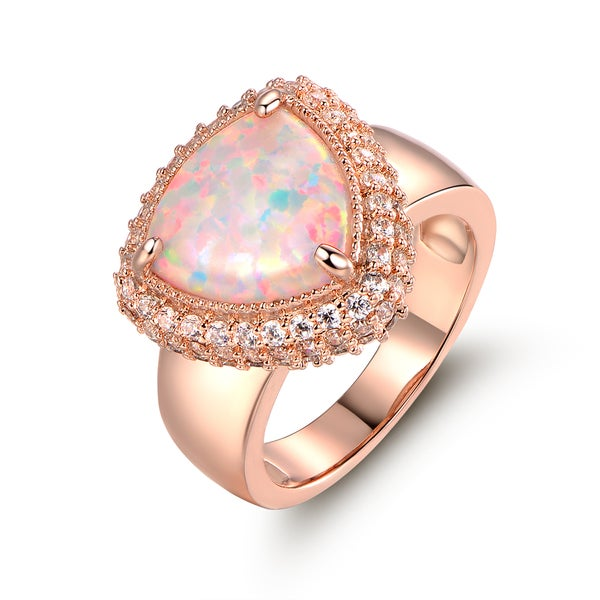 Wavy design pink cz pink fire opal rose gold over sterling silver pendant necklace stud earrings